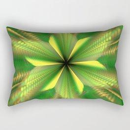 Fractal Green Star Flower Rectangular Pillow