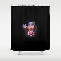 Animal Portraits - Hippopotamus Shower Curtain