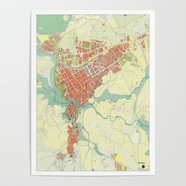 Ronda city map classic Poster