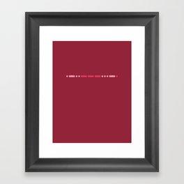 """Love"" - Morse Code - Secret Message - Single Framed Art Print"