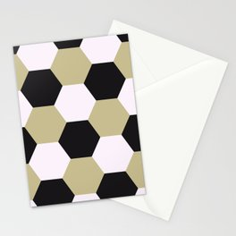 Hexagonal tile masonry Stationery Cards