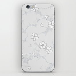 Kumori Nochi Sakura: Gray iPhone Skin
