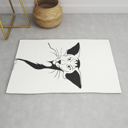 Mean look with a gentle heart Rug