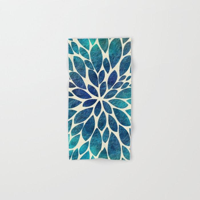 Petal Burst - Turquoise Hand & Bath Towel