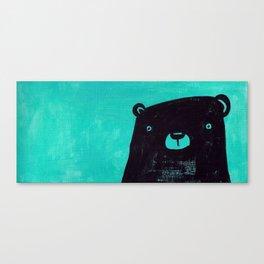 Black bear blues Canvas Print