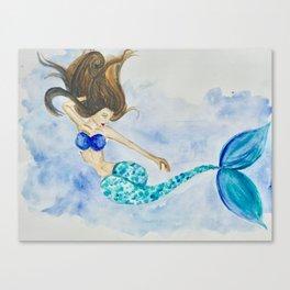 Mer-hair don't care Canvas Print