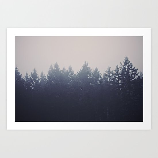 Forest in the Haze Art Print