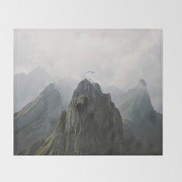 Flying Mountain Explorer - Landscape Photography Throw Blanket