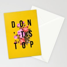 Don't Stop Flower Poster Stationery Cards