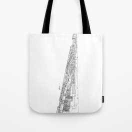 The tower of Disaster Tote Bag
