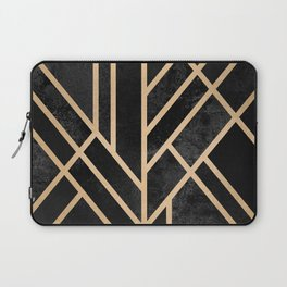 Art Deco Black Laptop Sleeve