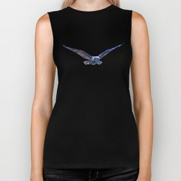 Owl flight Biker Tank