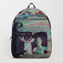 Fountain of Diana - Collage in Amethyst Backpack
