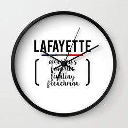 lafayette white Wall Clock