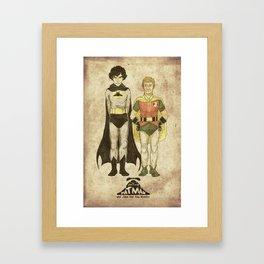 The Adventures of Hat-man and John the Boy Wonder Framed Art Print