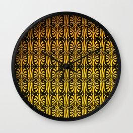 Art Deco Pattern: Still Sipping Cognac At Dawn Wall Clock
