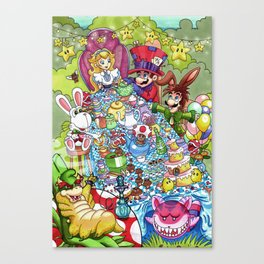 Mario Tea Party Canvas Print