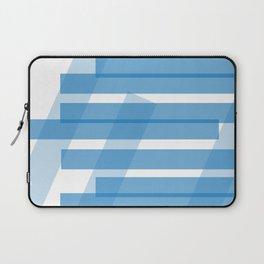 Electric Blue Slats Laptop Sleeve