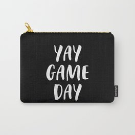 Yay Game Day Football Sports Team White Text Carry-All Pouch