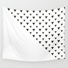 Falling Black and white Triangles Wall Tapestry