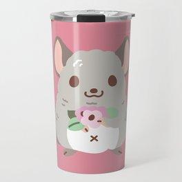 Chinchilla and flowers Travel Mug