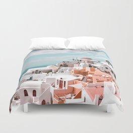 Santorini, Oia Duvet Cover