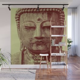 Buddha Duotone 3 Wall Mural