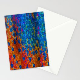 Burning Textile Drops Stationery Cards