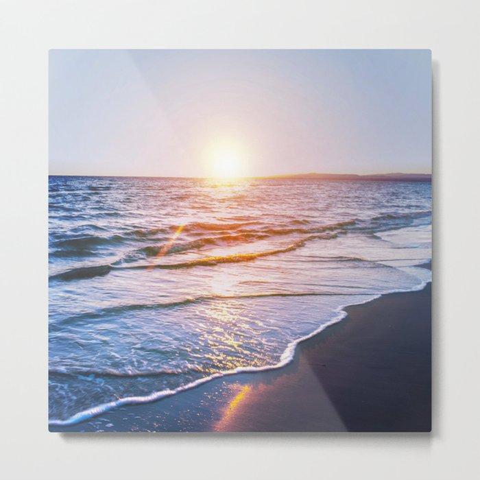 BEACH DAYS IX Metal Print