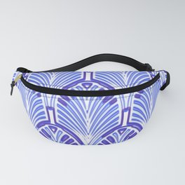 Nouveau,art deco, blue,white,vintage,pattern,elegant,chic,modern, trendy Fanny Pack