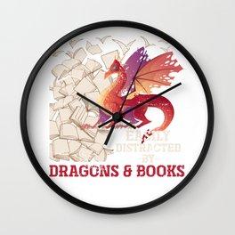 Dragon And Book Wall Clock