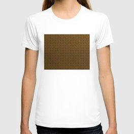 Chocolate Brown Moroccan Geometric Pattern T-shirt