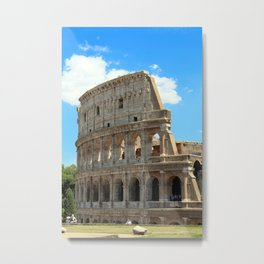 Roman Colosseum and Blue Skies 2 Metal Print