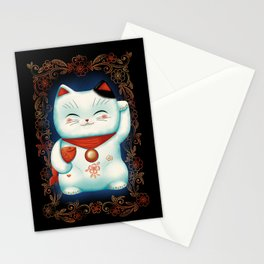 Lucky Cat Stationery Cards