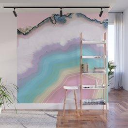 Rainbow Agate Slice Wall Mural