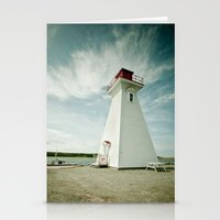 lighthouse Stationery Cards featuring lighthouse. by kimberlie ann photography