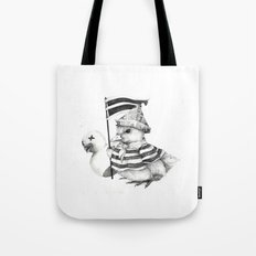 Duck War (Black and White) Tote Bag