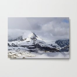 Mountain meets Clouds Metal Print