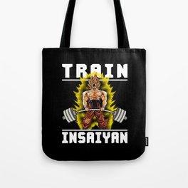 TRAIN INSAIYAN (Goku Deadlift) Tote Bag