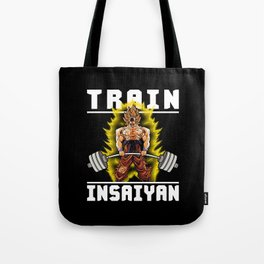 TRAIN INSAIYAN (Goku Deadlift) Tote Bag