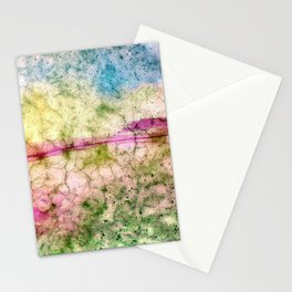 Fractal in many colors Stationery Cards