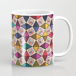 Colorful Kaleidoscopic Abstract Flower Pattern Coffee Mug