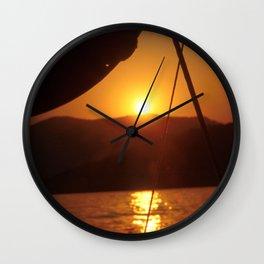 SUNSET DREAMING #1 #art #society6 Wall Clock