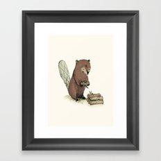Beaver. Framed Art Print