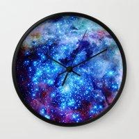 galaxy Wall Clocks featuring galaxy by 2sweet4words Designs