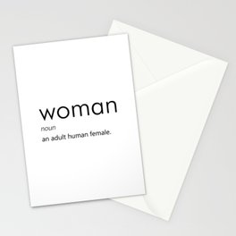 Woman (Definition) Stationery Cards