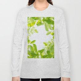 Walnut tree leaves pattern Long Sleeve T-shirt