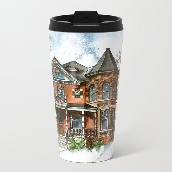 Victorian Winter Metal Travel Mug