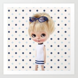 NAVY BLYTHE DOLL MEGAN BY ERREGIRO Art Print
