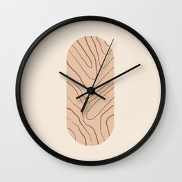 DATE AND TIME - Hand drawn modern abstract art Wall Clock